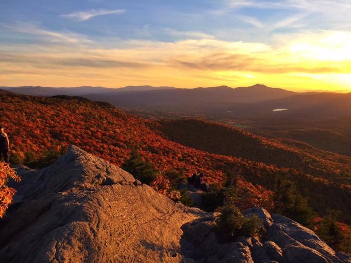 Sunset on Mt. Mansfield
