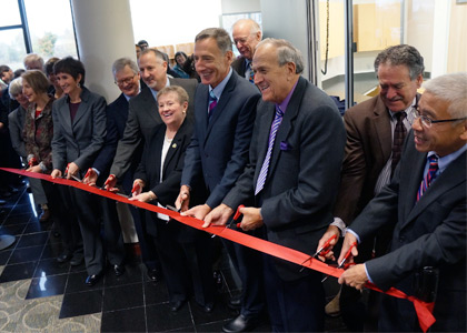 Dignitaries at Vermont Health Lab ribbon-cutting ceremony