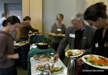 UVM served fresh local food for lunch.