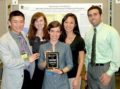 (from left) Richard Tan, Elisabeth Kispert, Autumn Polidor, Jocelyn Hu, and Matthew Saia