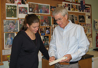 Allison Neal and Professor Joseph Schall