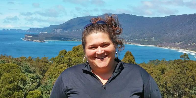 Rubenstein School alum Andrea Kavanagh in Tasmania