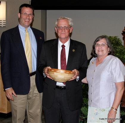 Mark Starrett, from left, Frank Blazich, April Blazich
