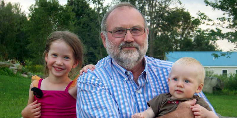 Carl Waite and granddaughters