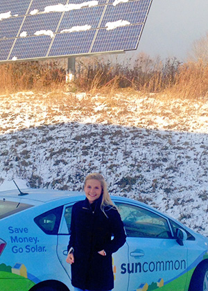 Carson Casey, the Chittenden County Solar Organizer for SunCommon in Vermont.