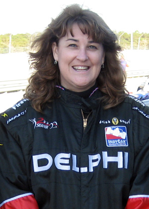 Cathy Colton Dunlap recently test drove Indy cars at the Disney Speedway.