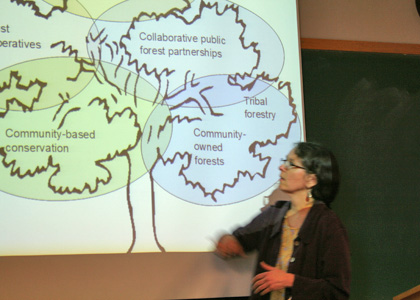 Associate Professor Cecilia Danks presents during a Faculty Quick Talk.