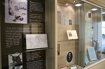 Cholera Exhibit in the Dana Medical Library
