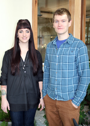 Christine Peterson and Christopher Hansen, RSENR graduate students