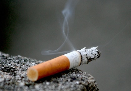 burning cigarette image