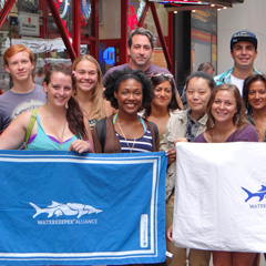 Perennial intern Cleo Doley (front, second from left) worked for Waterkeeper Alliance of New York City.