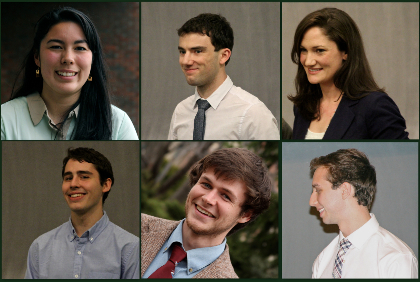 Six of the students who earned top UVM & CALS awards