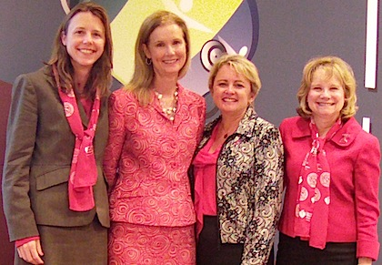 (Left to right) Susan Lakoski, M.D., Donna Arnett, Ph.D., M.S.P.H., Mary Cushman, M.D., M.Sc., and Lynne Braun, Ph.D., C.N.P.