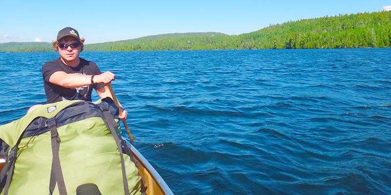 David Gudex-Cross kayaking on lake