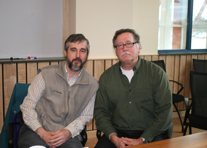 Commissioner of Vermont Department of Environmental Conservation David Mears and Professor Breck Bowden