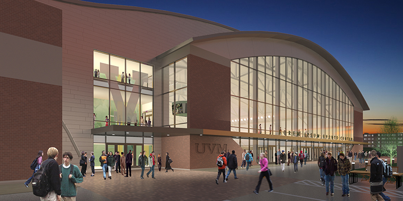Rendering, new multipurpose facility at UVM