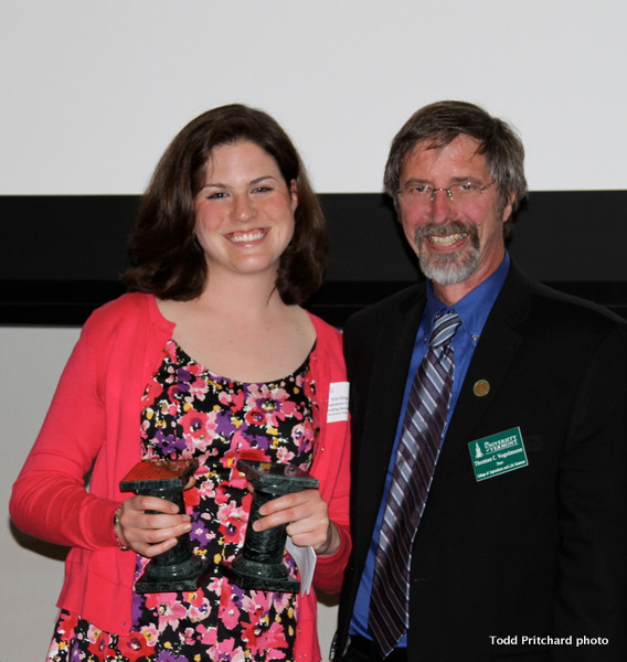 Erin King and UVM CALS Dean Tom Vogelmann