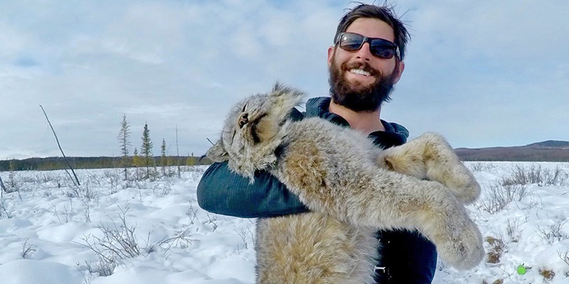 Ethan Ducharme worked with U.S. Fish & Wildlife Service on the Tetlin National Wildlife Refuge in Alaska. He served as a trapping technician on a Lynx research project.