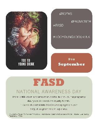 FASD Awareness Day Campaign Poster