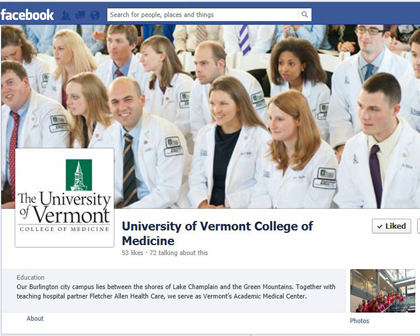 UVM College of Medicine facebook page logo