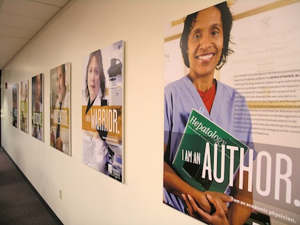 Photo of Faculty Showcase display