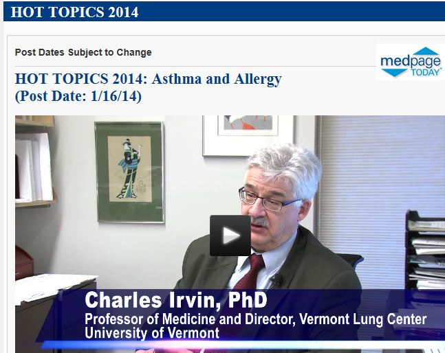 Charles Irvin, Ph.D., Professor of Medicine and Director of the Vermont Lung Center