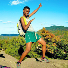 USDA Scholar Flore Costume (ENSC '16), at the top of the Stowe Pinnacle Trail.