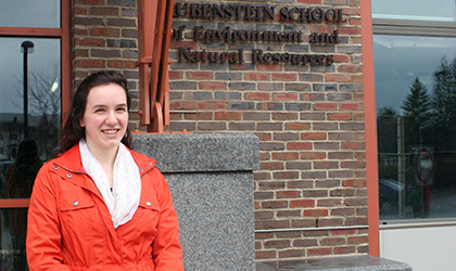 Gina Fiorile earns national acclaim for her role in engaging youth in climate change action.