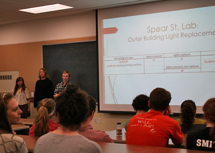 Greening of Aiken Intern class team presents on their work at the Spear Street Forestry SciencesLab.