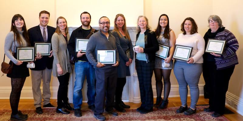 2018 UVM Service Learning Award recipients