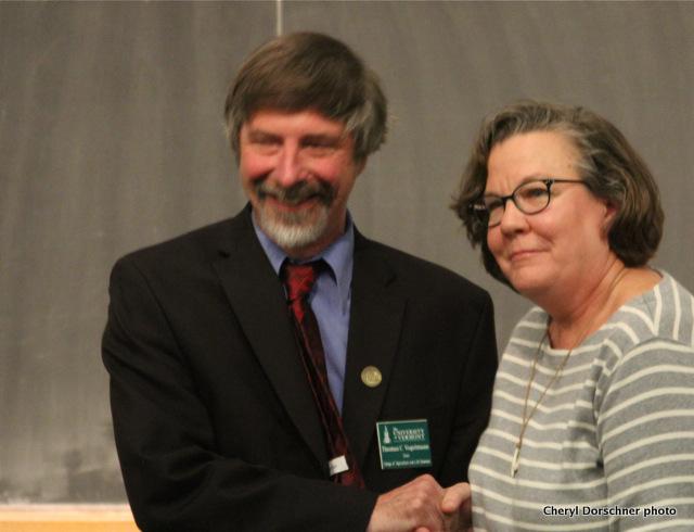Grip 'n' grin w/dean Tom Vogelmann & Anne Marie Resnik