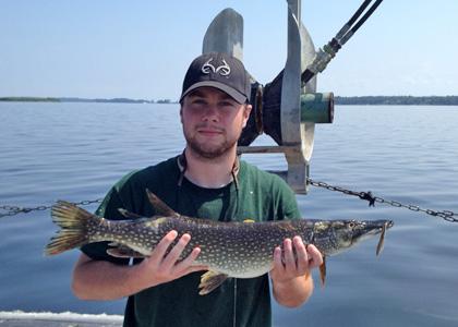 Ryan Cross conducts fisheries research on Lake Champlain.