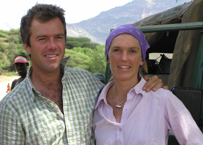 James Christian and Kerry Glen, owners of Karisia Walking Safaris of Kenya