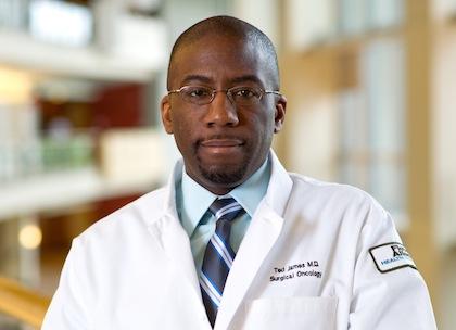 Ted James, M.D., UVM associate professor of surgery