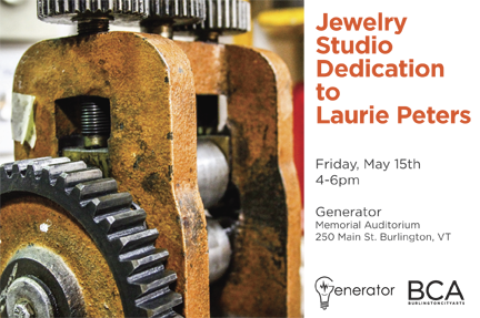 Jewelry Studio Dedication for Laurie Peters Flyer