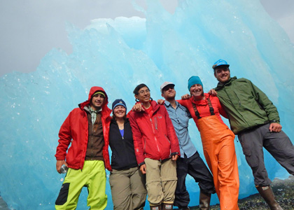 Multicultural Scholar Jon Liang (3rd from left) in Alaska with the Wild Rockies Field Institute