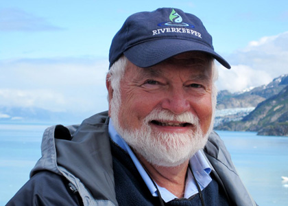 Larry Forcier in Glacier Bay, Alaska