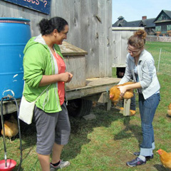 USDA Scholar Liza Honorio (ENSC '16), visiting Shelburne Farms on a visit sponsored by the USDA Multicultural Scholars Grant while a student at High School for Environmental Studies, NYC.