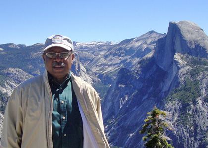 Rubenstein School Advisory Board Member Mickey Fearn at Yosemite National Park