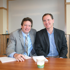 Commissioner of Vermont Department of Forests, Parks and Recreation Michael Snyder and Interim Dean Jon Erickson