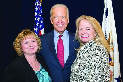 Anna Noonan, Joe Biden, and Eileen Whalen