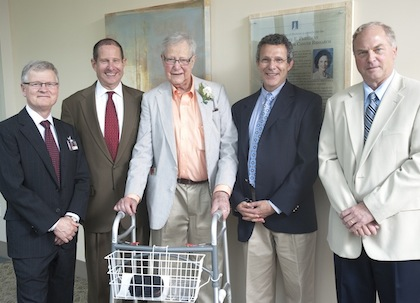 From left, Rick Morin, Jon Perelman, Arthur J. Perelman, Robert Perelman and John Brumsted