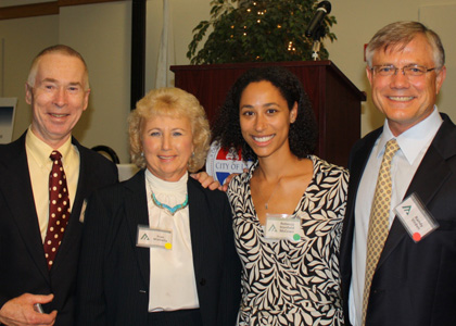 Robert Manning, Fran Minella (former Director of the National Park Service, Rebecca Stanfield McCown, and Randy Virden (Chair of the Awards Committee)