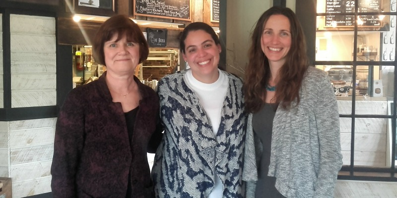 From left to right: Mary Ellen Seaver-Reid (VT I-Team), Renata Bonotto (International Fellow), and Amy Starble