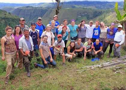 RSENR students tour Ecuador during a winter break travel course.