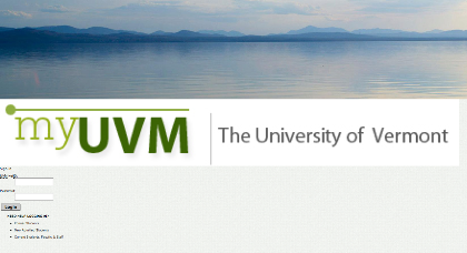 Fake myUVM site