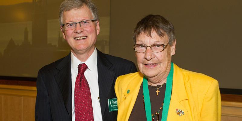 Dr. Ruth Seeler and Dean Frederick Morin