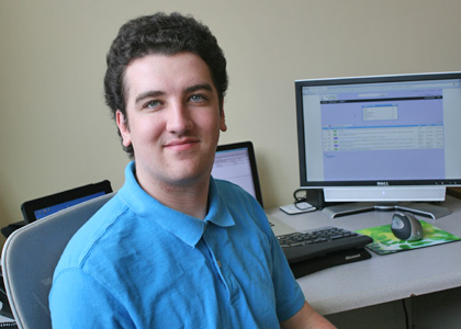 Seth O'Brien, the Rubenstein School's IT Specialist