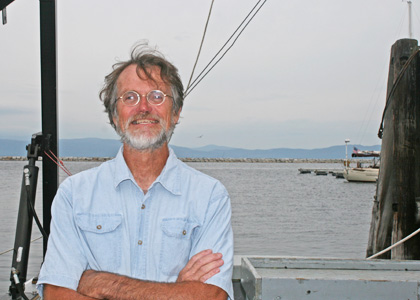Steve Cluett, captain of the Rubenstein School research vessel Melosira
