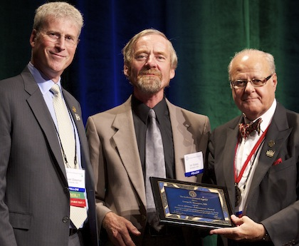 Ian Stokes, Ph.D. receives the Scoliosis Research Society Lifetime Achievement Award